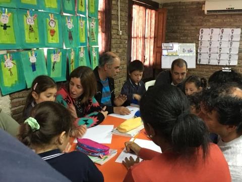 2017: Nivel 5 A realizó una clase abierta sobre indigenas.