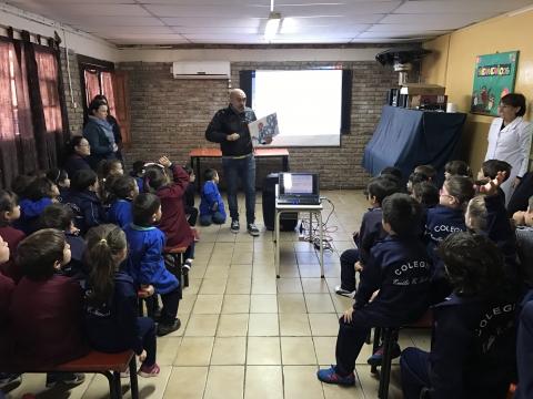 2017: Nos visitó el escritor Alejandro Ferreiro